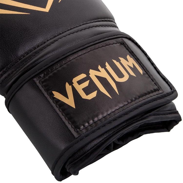 Боксерские перчатки Venum Contender Black Gold 12 унций