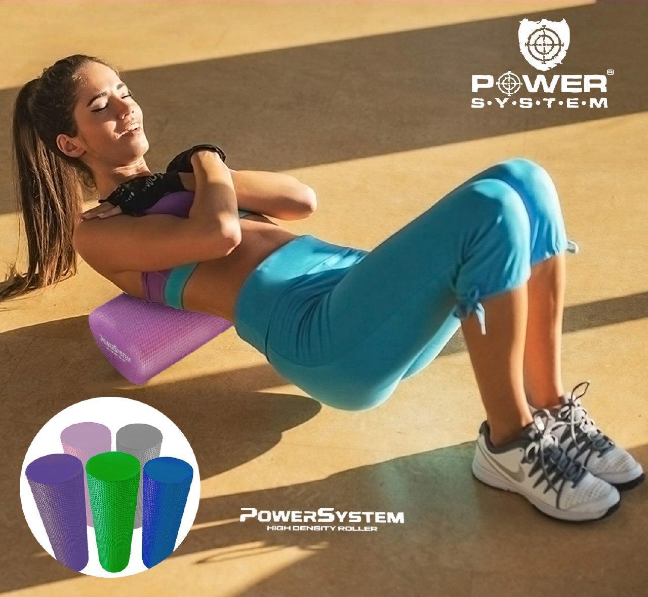 Массажный ролик для фитнеса и аэробики  Power System Fitness Roller PS-4074 Blue (45*15)