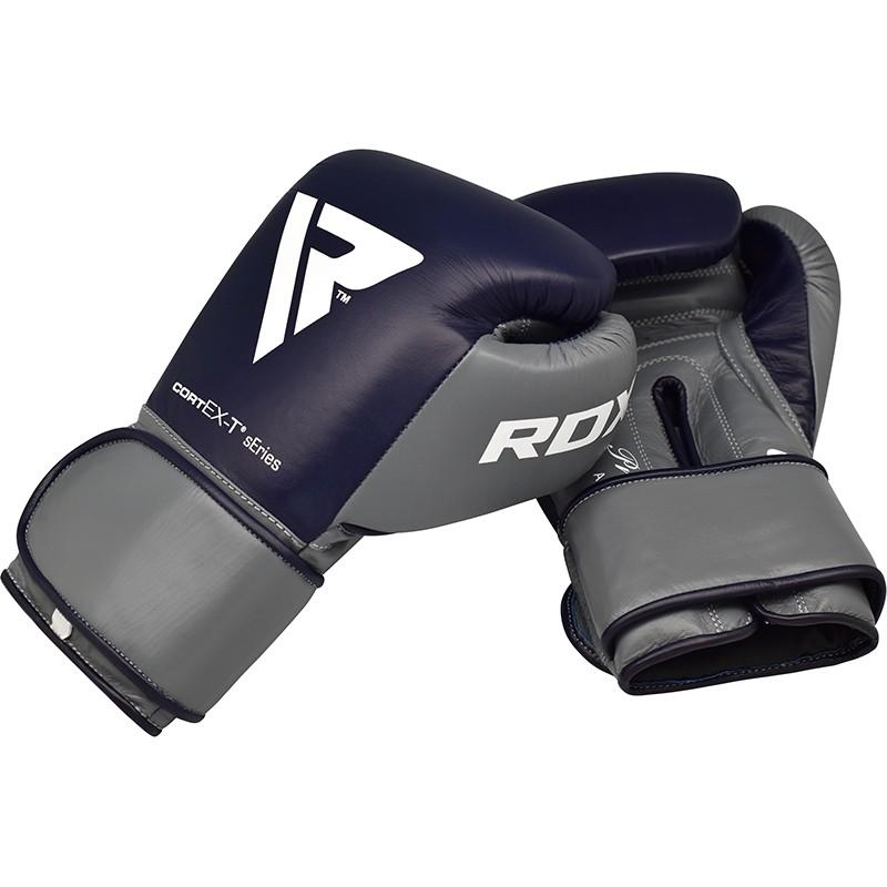 Боксерские перчатки RDX Leather Pro C4 Blue 10 ун.