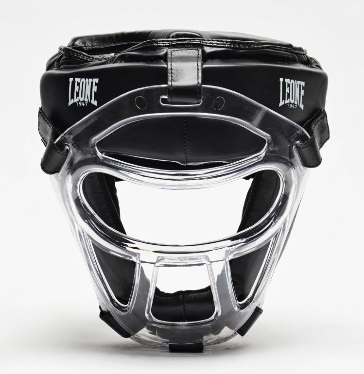 Боксерский шлем Leone Plastic Pad Black XS/S
