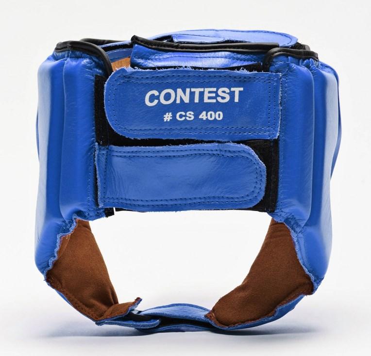 Боксерский шлем для соревнований Leone Contest Blue S