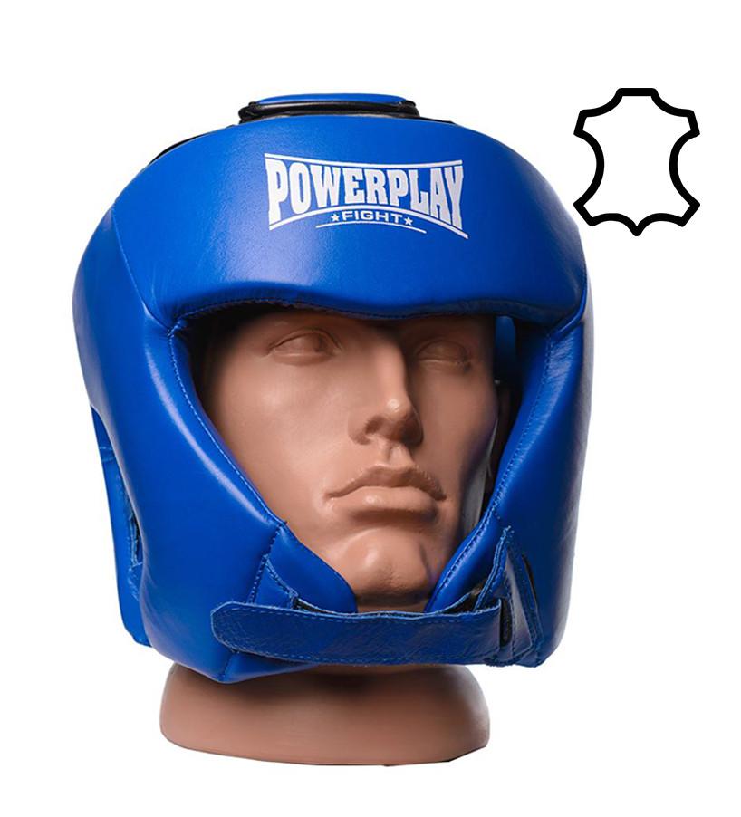 Боксерский шлем турнирный PowerPlay 3049 cиний S