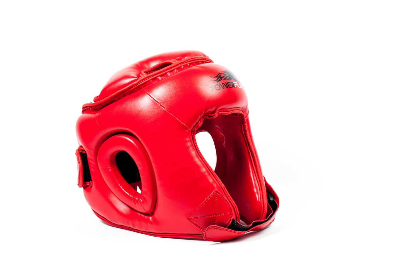 Боксерский шлем турнирный PowerPlay 3045 красный S