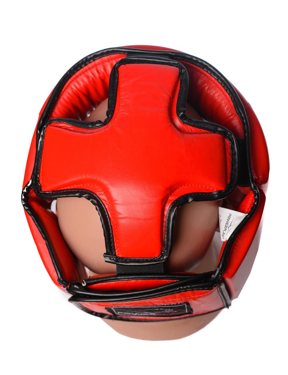 Боксерский шлем турнирный PowerPlay 3049 красный S