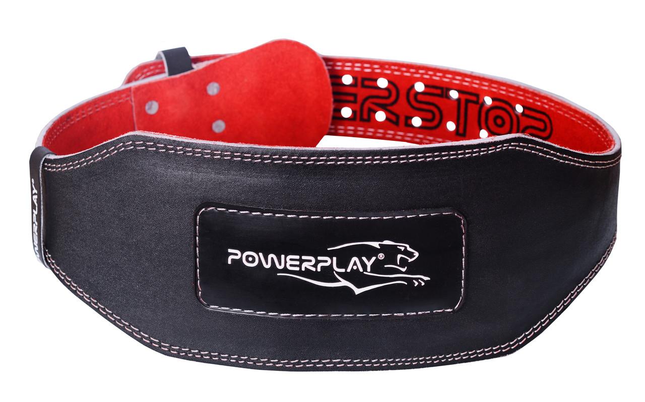 Пояс для тяжелой атлетики PowerPlay 5053 черно-красный XS