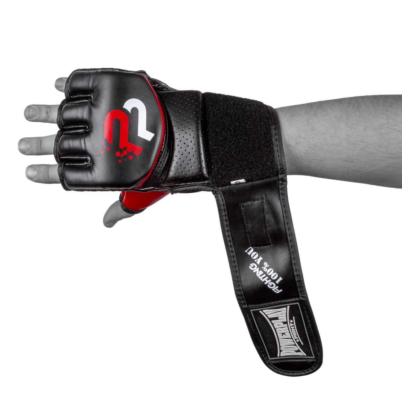 Перчатки для MMA PowerPlay 3093 Черные S