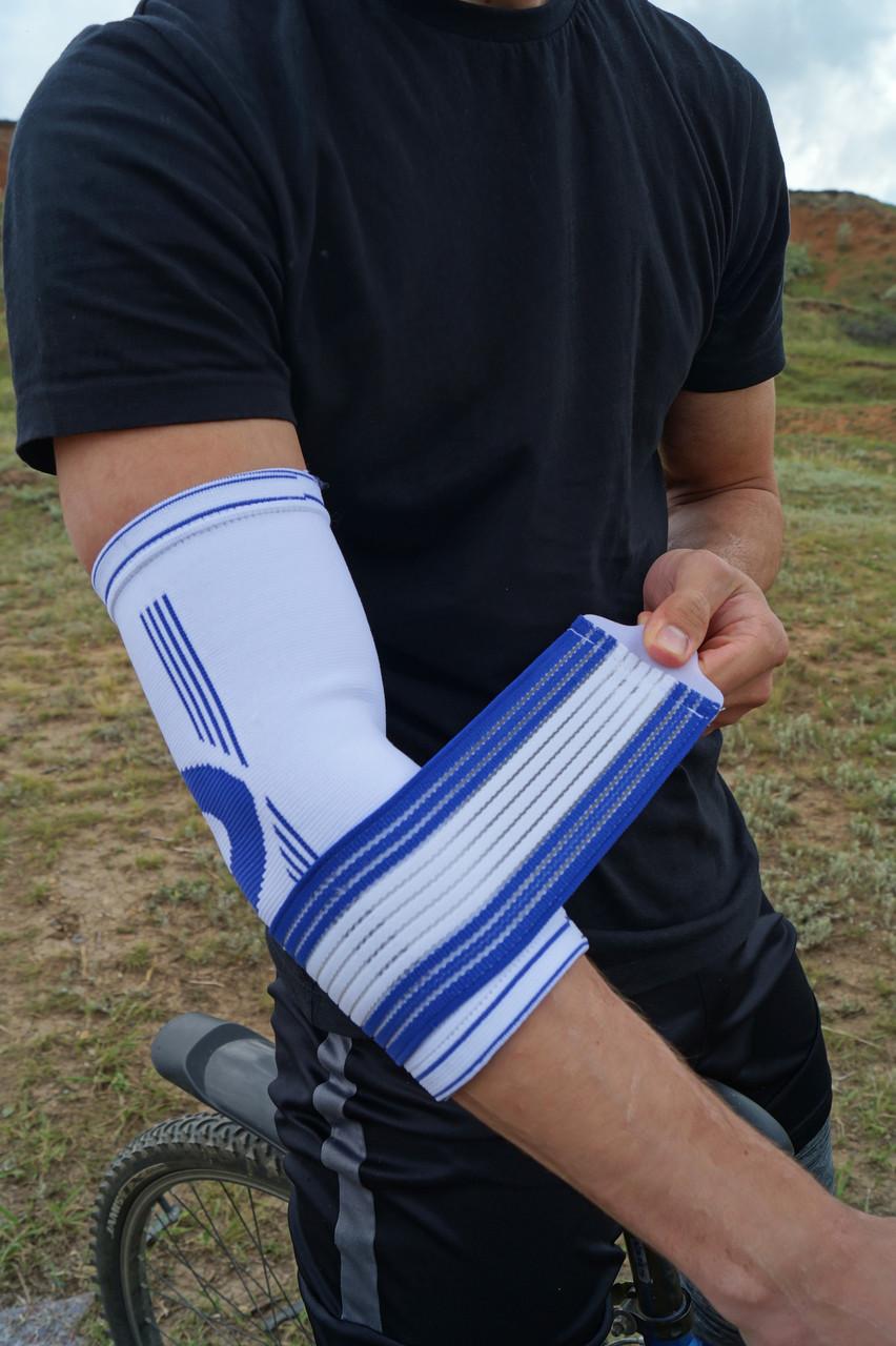 Налокотник спортивный Power System Elbow Support Pro PS-6007 White/Blue S/M