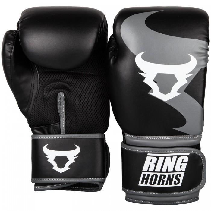 Боксерские перчатки Ringhorns charger black 10 унций
