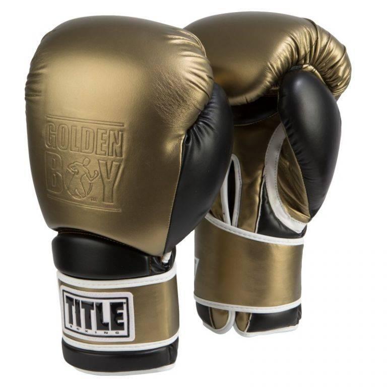 Боксерские перчатки TITLE Golden Boy Training Gloves
