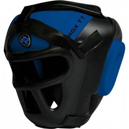 Боксерский тренировочный шлем RDX Guard Blue-XL