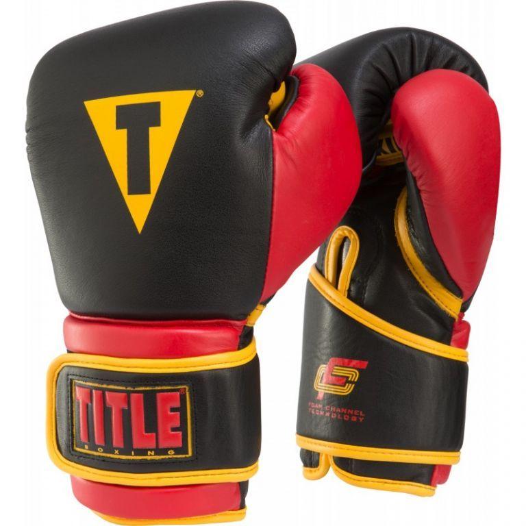 Боксерские перчатки TITLE Foam Channel Technology Training Gloves