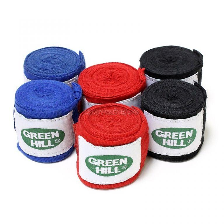 Бинты боксерские Green Hill хлопок-3,5м