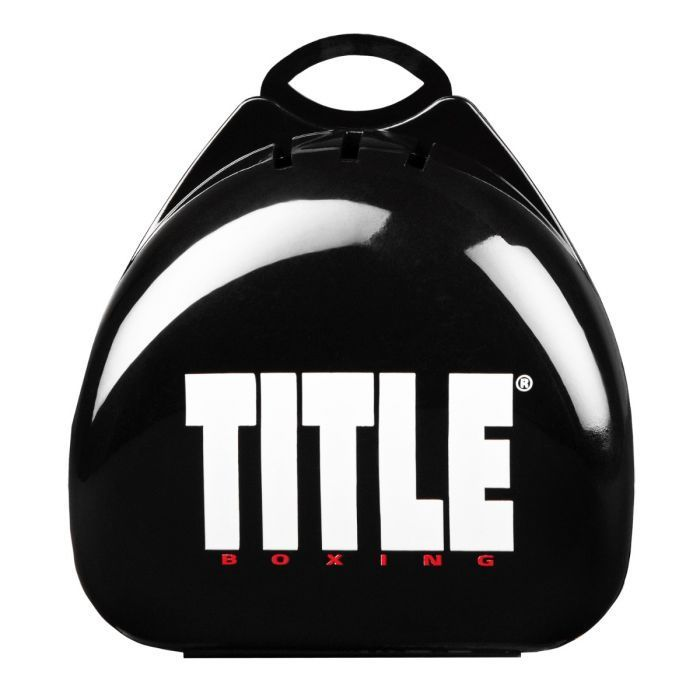 Кейс для капы TITLE Deluxe Mouthguard Case-черный