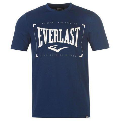 Футболка Everlast Logo T-shirt Mens Navy Square-S