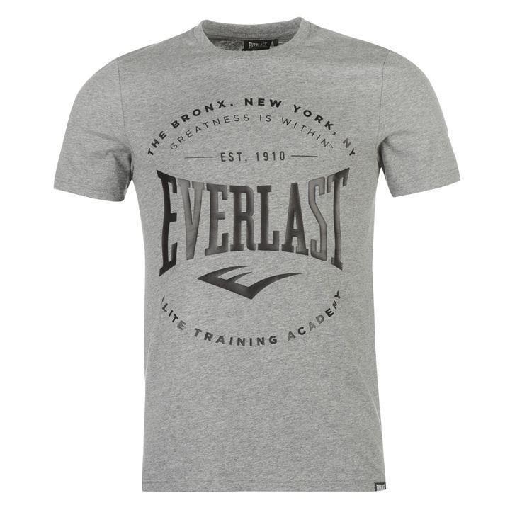 Футболка Everlast Logo T-shirt Mens Marl Bronx-S