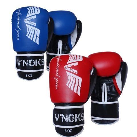 Боксерские перчатки V`Noks Lotta Blue/Red-8