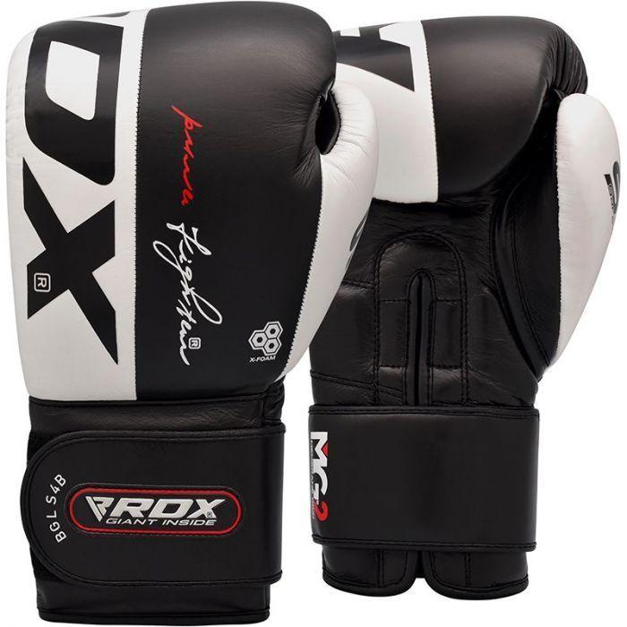 Боксерские перчатки RDX S4 Leather Sparring Boxing Gloves-10