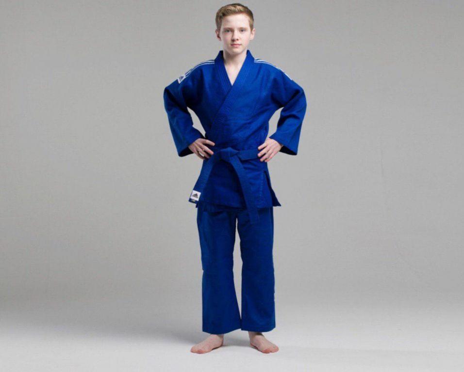 Кимоно для дзюдо Adidas Training (синий, J500B)-130