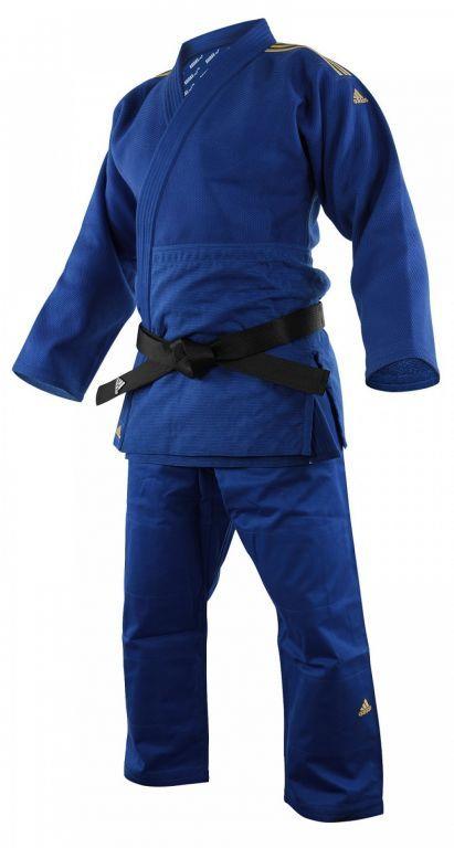 Кимоно для дзюдо Champion II, золотые полосы (синий, J-IJFB-SMU)-160