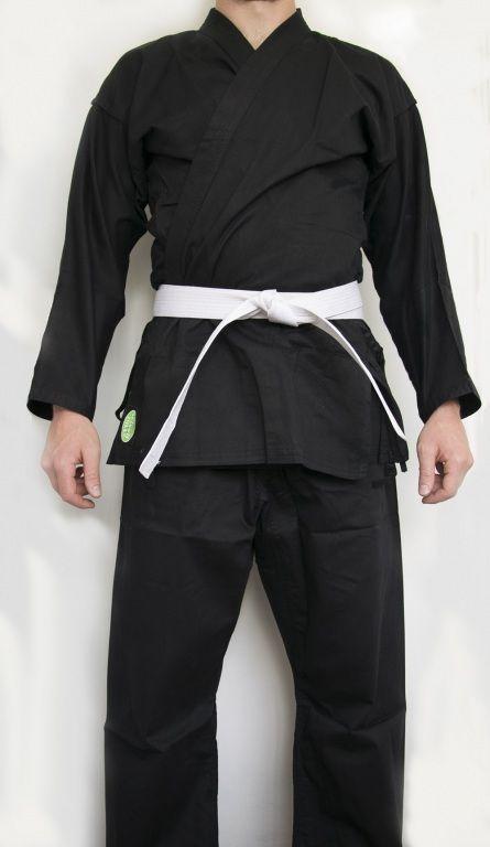 """Кимоно для каратэ """"CLUB"""" (черное) Green Hill-150"""