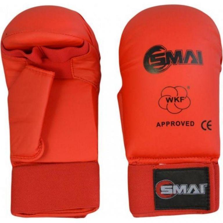 Перчатки для карате SMAI с защитой большого пальца с лицензией WKF-M