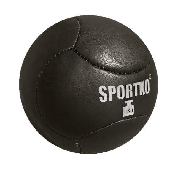 Медбол, тяжелый мяч SportKO Кожа от 1 до 8кг-1кг