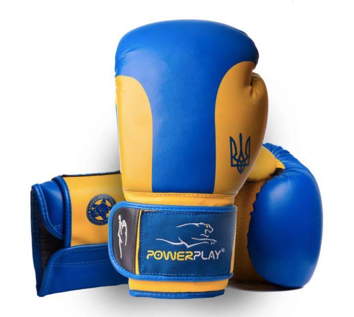 Перчатки для бокса PowerPlay 3021 Ukraine-14