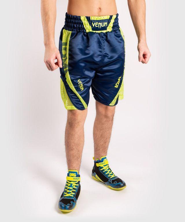 Боксерские шорты Venum Origins Boxing Short Loma Edition Blue Yellow-XXS