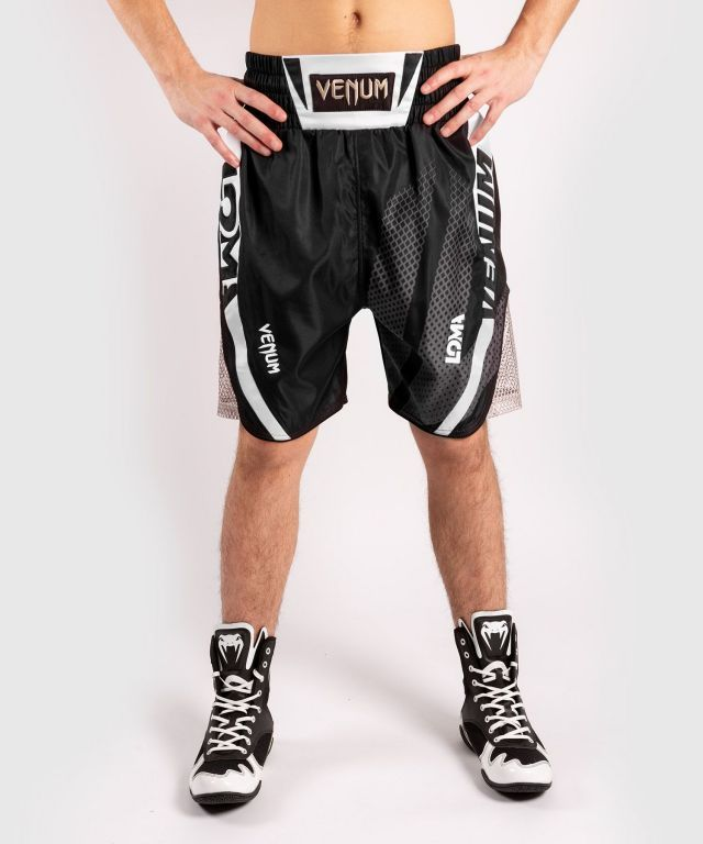 Боксерские шорты Venum Arrow Loma SIgnature Collection Boxing Shorts Black White-XS