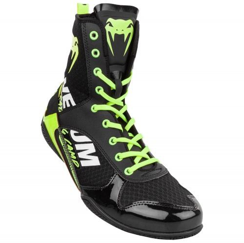 Боксерки Venum Elite VTC 2 Edition Boxing Shoes Black Neo Yellow-40