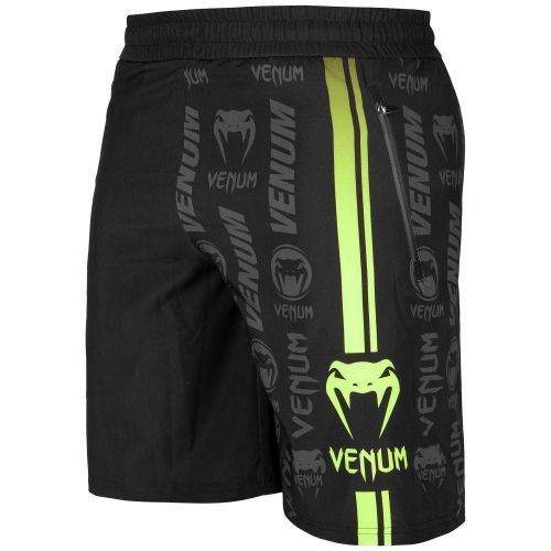 Шорты Venum Logos Training Shorts Black Neo Yellow-XXS