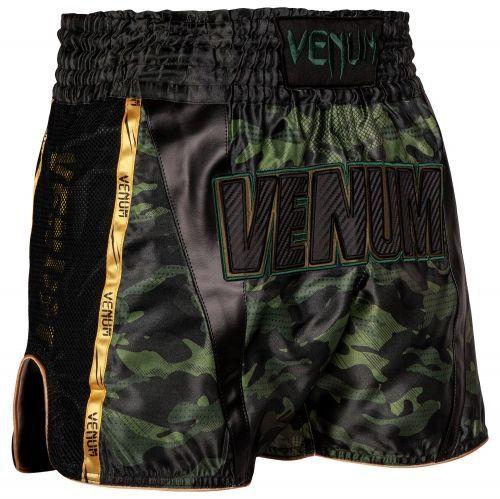 Шорты для тайского бокса Venum Full Cam Muay Thai Shorts Forest Camo Black-S