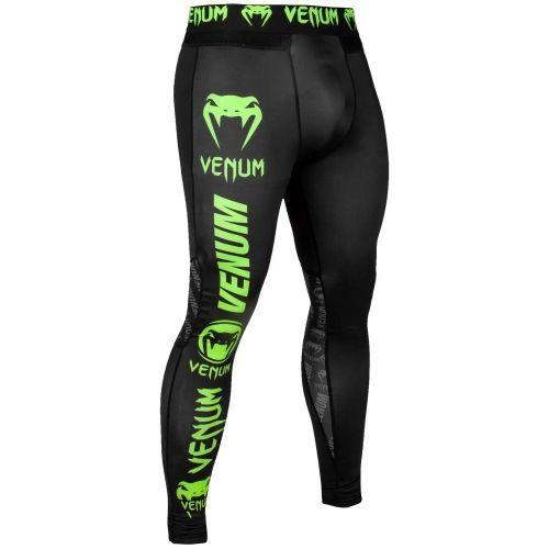 Компрессионные штаны Venum Logos Tights Black Neo Yellow-XS