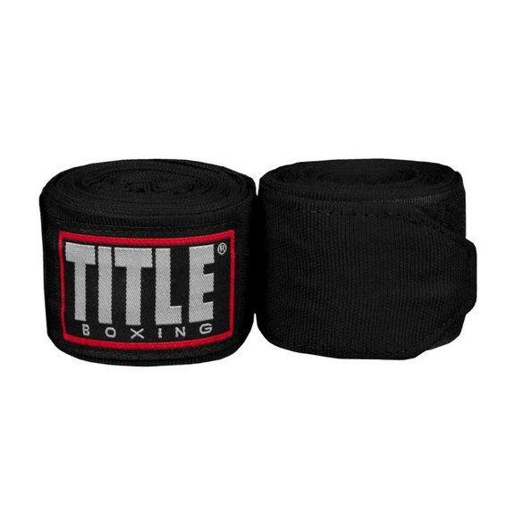 Бинты TITLE Fight Back Semi-Elastic 4,57м-черный