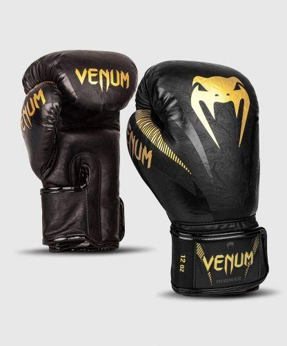 Боксерские перчатки Venum Impact Boxing Gloves Gold Black-8