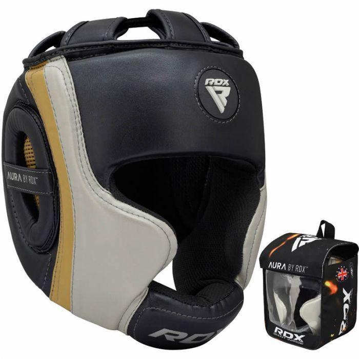 Боксерский шлем RDX AURA GOLDEN-M