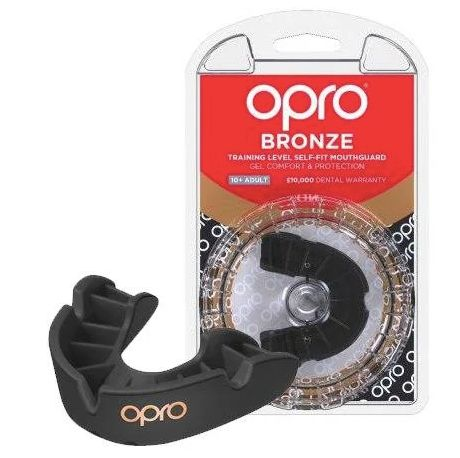 Капа OPRO Bronze Black/White-детская