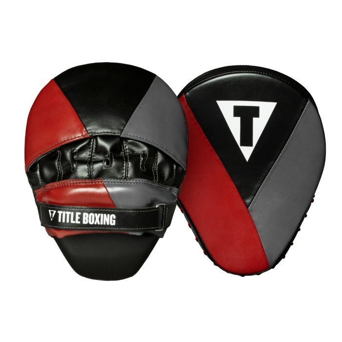 Боксерские лапы TITLE Boxing Prime Punch Mitts Cardinal -24 x 19см