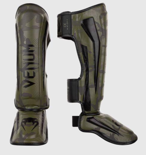 Защита голени Venum Elite Standup Shinguards Khaki Black-M