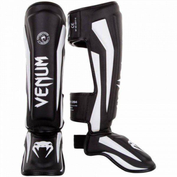 Защита голени Venum Elite Standup Shinguards Black White-M
