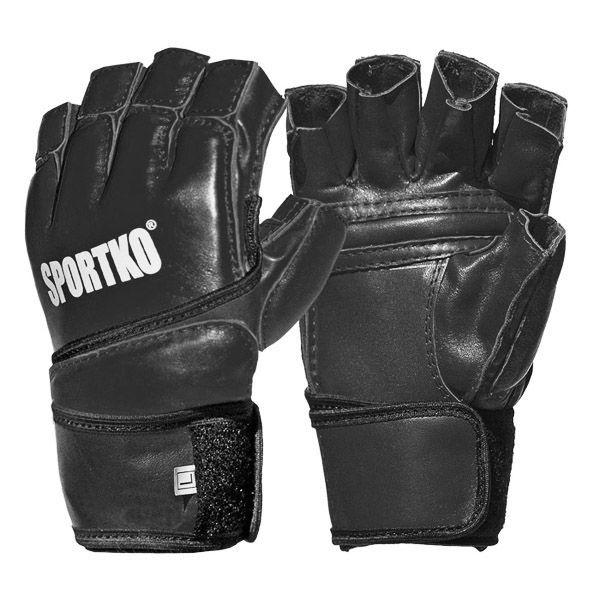 Перчатки с открытыми пальцами SPORTKO ПК-4-M