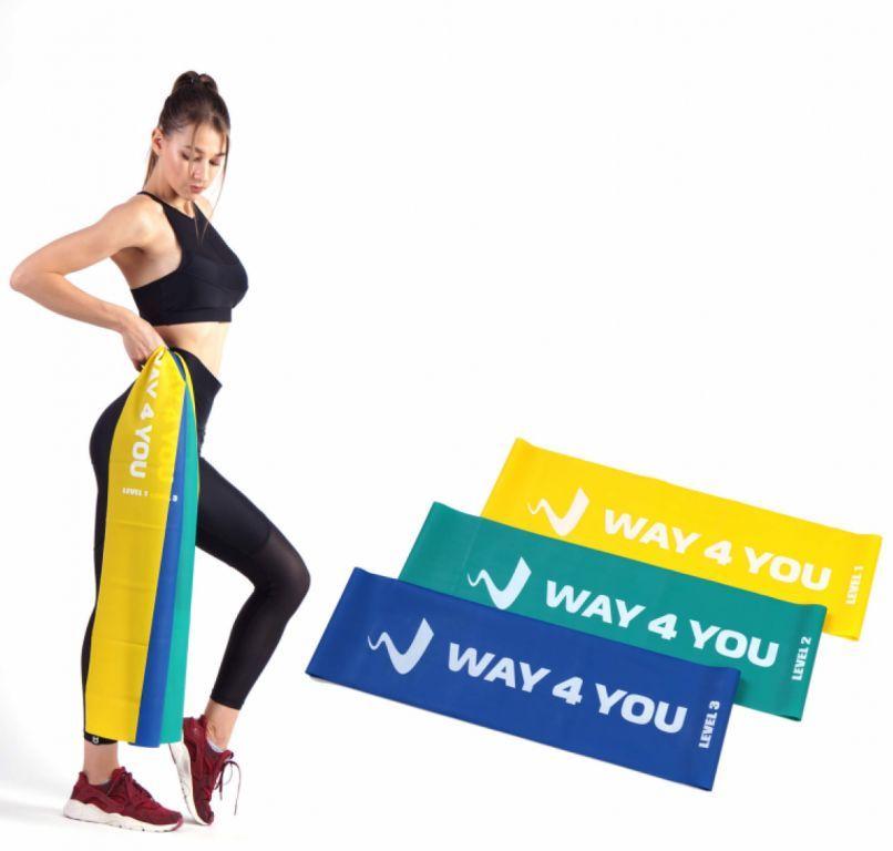 Набор эластичных лент для фитнеса Way4you (3 шт.)