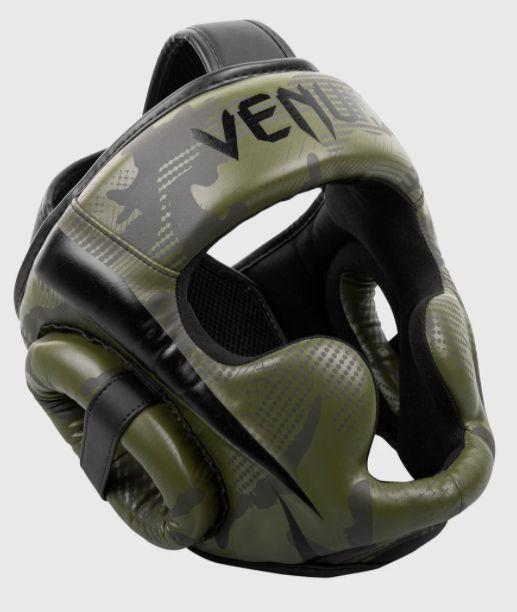 Боксерский шлем Venum Elite Headgear Khaki Camo-универсальный