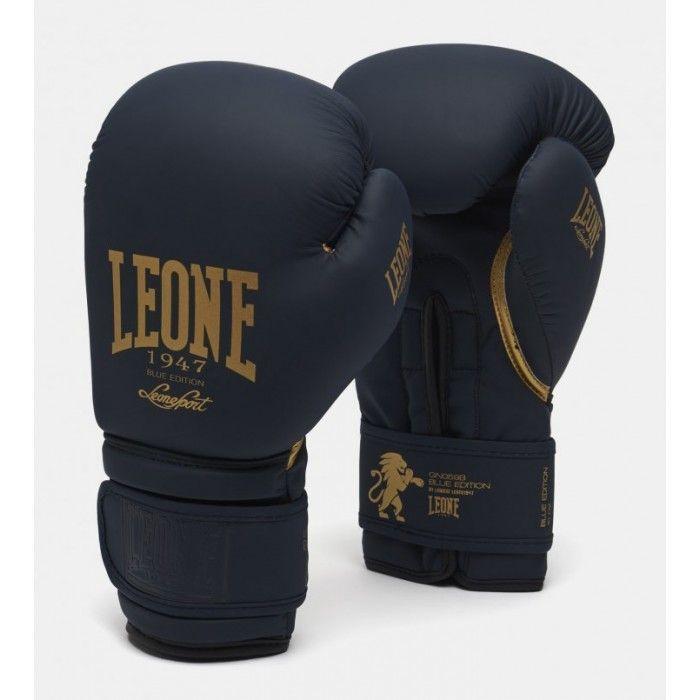Боксерские перчатки Leone Mono Blue-10