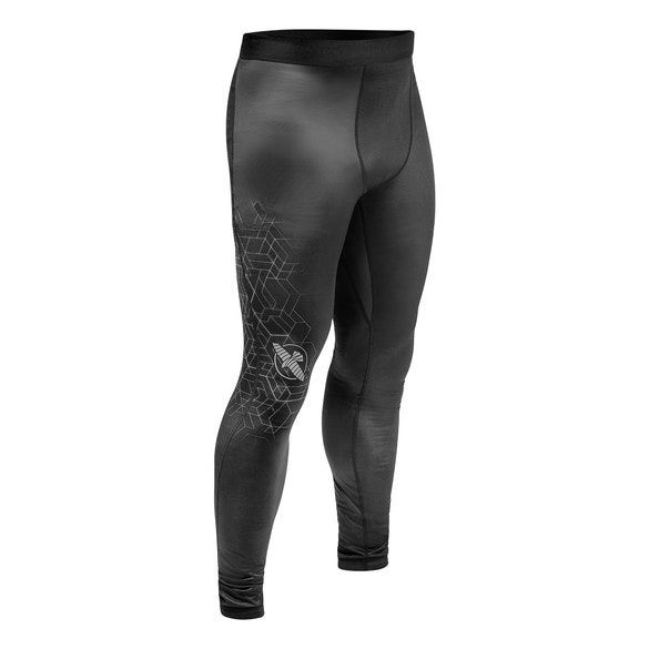 Компрессионные штаны Hayabusa Geo Jiu Jitsu Spats Grey-M