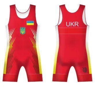 Трико сборной Украини UWW UKRAINE 2016 Red красное-4XS