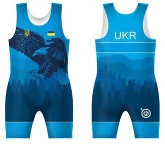 Трико сборной Украини UWW OREL 2 BLUE-4XS