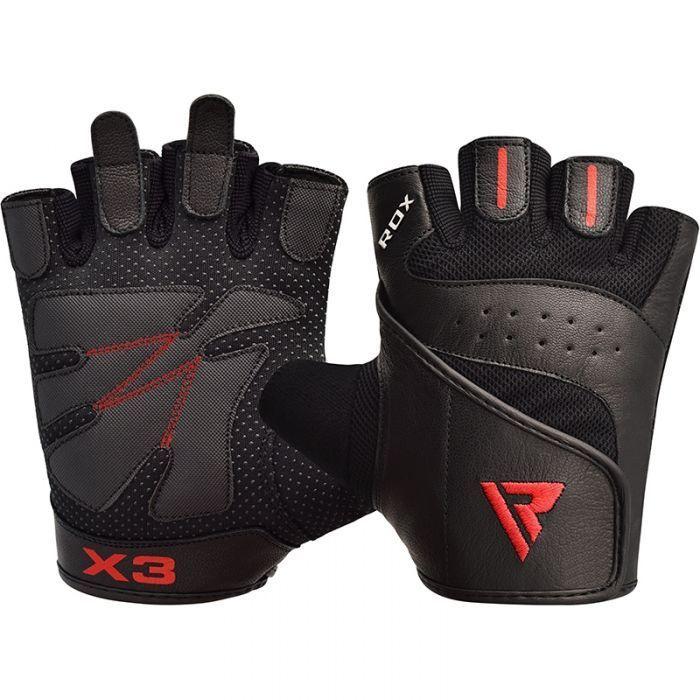 Перчатки для фитнеса RDX S2 Leather Black-S