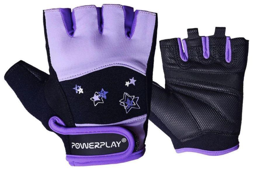 Перчатки для зала женские Powerplay 3492 Черно-фиолетовый-XS