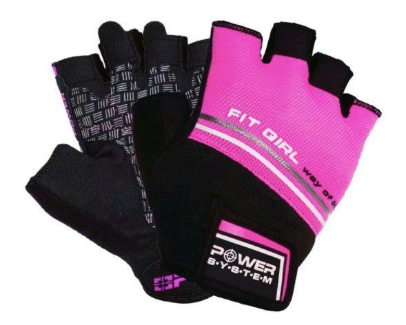 Перчатки для фитнеса женские Power System Fit Girl Evo PS-2920 Pink-XS